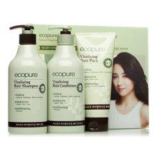 所望 植物活力头皮护理洗发水+护发素+发膜(500ml*2+200ml)