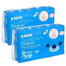 2包装-【韩国进口现货】K-MOM故事纸尿裤 L码(10-14KG)56片