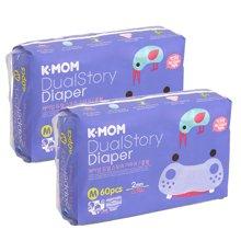 2包装-【韩国进口现货】K-MOM故事纸尿裤 M码(7-11KG)60片