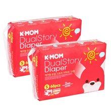 2包装-【韩国进口现货】K-MOM故事纸尿裤 S码(4-8KG)68片