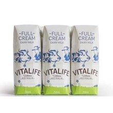 【整箱装24支】维特莱全脂纯牛奶(250ml*6)*4