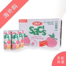 【整箱】OKF桃汁饮料(含桃果肉)240ml*24支