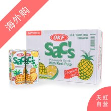 【整箱】OKF菠萝汁饮料(含菠萝果肉)240ml*24支