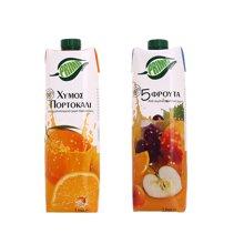 【组合装】浦瑞曼100%混合果汁1L+浦瑞曼100%橙汁1L