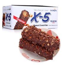 韩国进口 X-5花生夹心巧克力棒(36g*24) 劲销爆款
