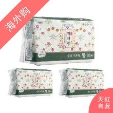 【3包装】韩国LG贵爱娘中草配方卫生护垫17.5cm(38片/包)