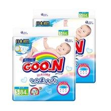 【2包装】日本GOO.N大王纸尿裤维E系列(S84片)