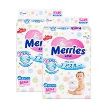 Merries 日本原装进口花王纸尿裤M码(64片)*2包装