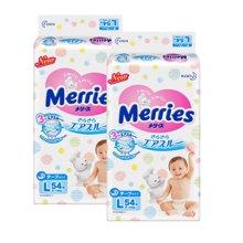 Merries 日本花王进口纸尿裤L码 大码(54片)*2包装