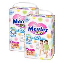 Merries 日本进口花王拉拉裤 XL码 加大码(38片)*2包装