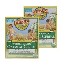 【2盒装】美国Earths Best宝宝营养高铁有机米粉2段(含燕麦)-绿色装 6个月+ 227g/盒