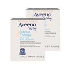 【2盒装】美国Aveeno Baby艾维诺婴儿天然燕麦泡澡粉 106g/盒