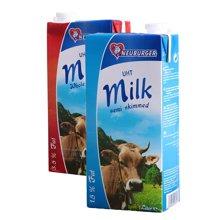 【组合装】纽倍格全脂牛奶1L+纽倍格部分脱脂牛奶1L
