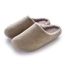 智庭情侣居家居室内地板防滑防水软底简约秋冬季男女士保暖棉拖鞋