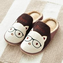 冬季可爱卡通猫咪棉拖鞋男女情侣居家防滑防水地板室内拖鞋家居鞋