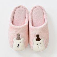 智庭 冬款圣诞熊一家三口亲子拖鞋