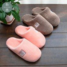 朴西 居家情侣室内可爱毛拖鞋女防滑保暖地板拖鞋