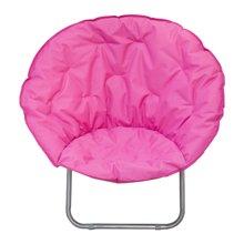 雅客集玫红时尚舒适月亮椅FB-14094 阳台户外折叠休闲椅