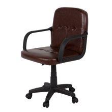 雅客集艾德里安褐色办公电脑椅FB-14140 皮椅 职员办公椅 旋转升降扶手靠背椅