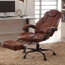 【可躺电脑椅】雅客集麦尔斯休闲办公椅-棕色FB-15065BR