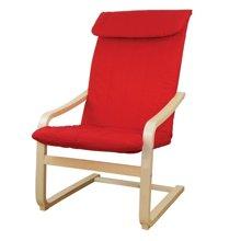【实木曲弓形电脑椅】雅客集红色休闲椅WN-13255