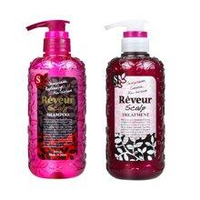 日本Reveur 洗发水+护发素套装 粉色 柑橘香头皮护理型 500ml*2