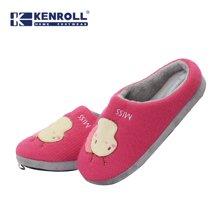 kenroll科柔儿童棉拖鞋可爱男童女童冬防滑家居棉鞋宝宝半包跟鞋