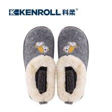 kenroll科柔儿童棉拖鞋可爱男童女童防滑冬季家居棉鞋宝宝包跟鞋