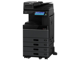 东芝e-STUDIO3005AC彩色数码复印机(主机,自动双面输稿器MR-3031C,四纸盒KD-1058C+MY-1048,鞍式装订整理器台KN-5005C+MJ-1110,传真卡GD-1370)