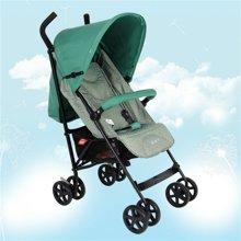 好孩子轻便婴儿伞车可平躺宝宝手推车便携折叠避震童车婴儿车(D400-墨绿色)
