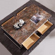 皇家爱慕现代简约客厅大理石茶几不锈钢时尚茶桌981