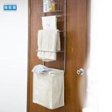 【衣物大收纳+毛巾架+洗浴用品置物架】雅客集多功能门后收纳架ML-14061