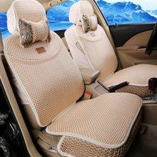 车爱人豹纹CAR全冰丝汽车坐垫 16新款夏垫座垫用品汽车座套(舒适版)流沙米