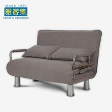 雅客集爱丝特灰色棉麻沙发折叠床FB-15025GA
