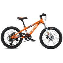喜德盛 20寸儿童自行车 6速机械碟刹铝合金车架男女小孩单车冠军熊儿童山地车
