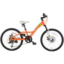 喜德盛 20寸儿童自行车 6速机械碟刹铝合金车架男女小孩单车美美熊儿童山地车