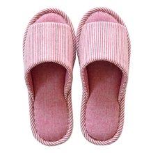 智庭 新品全棉布四季居家鞋 女室内地板防水防滑情侣 家居拖鞋