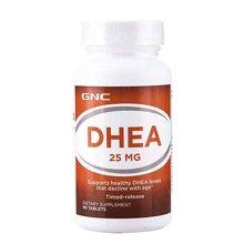 美国健安喜GNC青春素胶囊DHEA 25mg 90粒/瓶