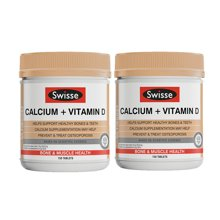 【海外直邮】澳洲瑞思swisse钙片钙+VD柠檬酸钙150粒*2瓶装
