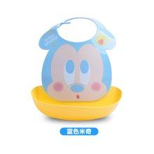 【香港直邮】日本锦化成宝宝围兜 迪士尼图案儿童食饭兜 口水巾防水围嘴0.25kg*1件(蓝色米奇)