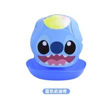 【香港直邮】日本锦化成宝宝围兜 迪士尼图案儿童食饭兜 口水巾防水围嘴0.25kg*1件(蓝色史迪奇)