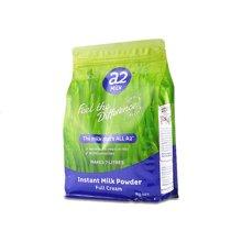 【海外直邮】澳洲A2成人奶粉袋装高钙全脂高蛋白奶粉进口牛奶1kg*1袋(新旧包装随机发货)