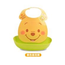 【香港直邮】日本锦化成宝宝围兜 迪士尼图案儿童食饭兜 口水巾防水围嘴0.25kg*1件(黄色维尼熊)