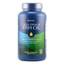 【美国】GNC健安喜深海鱼油欧米茄3鱼油软胶囊 120粒