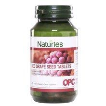【新西兰】Naturies奈氏力斯 红葡萄籽复合片 抗氧化清理自由基 60粒