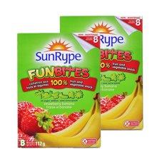 【2盒装】【加拿大】SunRype天然果肉水果粒112g 香蕉草莓味