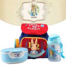 【儿童套装  比得兔】比得兔幼儿野餐包三件套(书包+水壶+便当盒)