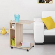 [可移动 沙发扶手柜 茶几电话几]雅客集白橡色边桌WN-14231
