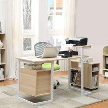 【加粗 带两抽屉 书架】雅客集英帝拉两抽钢木电脑杂志办公桌WN-14221