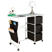 雅客集布抽书桌WN-13218 带收纳袋可移动办公桌 电脑桌 写字台